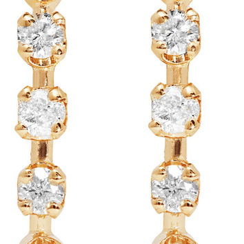 Loren Stewart - 14-karat gold diamond earrings