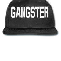 GANGSTER EMBROIDERY HAT - Snapback Hat