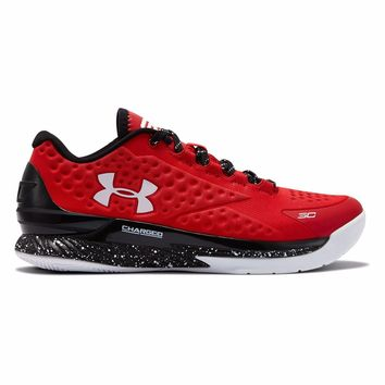 New Men's Under Armour Curry 1 Low Basketball Shoe - Red 1276195-600