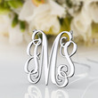 Popular gift monogram jewelry --1 inch 925 sterling silver 3 initial necklace jewelry customized