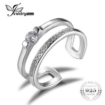 Feelcolor Brand Classic Anniversary Engagement Wedding Band Ring Genuine 925 Sterling Silver Jewelry 2016 New Unique Fine Ring