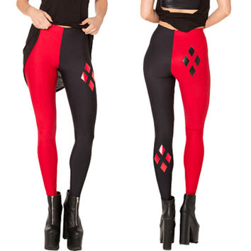 East Knitting BL-519 Fashion 2015 New HARLEY QUINN Legging Sport Pants Women Clothing Casual Fitness Leggings Free Shipping