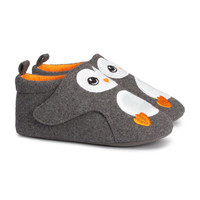 Felt Slippers - from H&M
