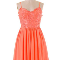 Belle of the Ball Dress - Orange