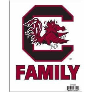 NCAA Officially Licensed Team Family Pride Decals Stickers (South Carolina Gamecocks)