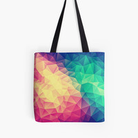 Abstract Polygon Multi Color Cubizm Painting