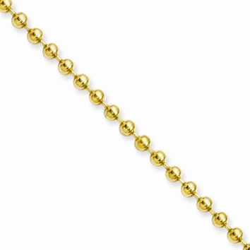 Men's Stainless Steel IP Gold-plated Ball Chain Necklace
