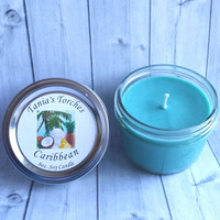 Scented Candle Natural Soy Candle Tropical Caribbean Fragrance