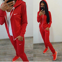 Nike Fashion Long Sleeve Shirt Sweater Pants Sweatpants Set Two-Piece Sportswear
