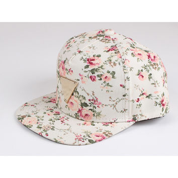 New 2016 Fashion Casual Baseball Cap Hat For Women Cool Adjustable Hip Hop Snapback Caps Elegant Lovely Floral Print Hats WT277