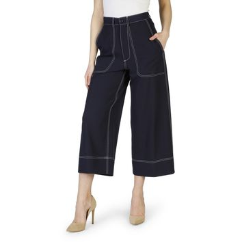Imperial Blue Buttons Zip Pant