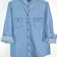 Old Navy Chambray Denim Shirt Large
