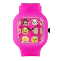 pink emoji Watch