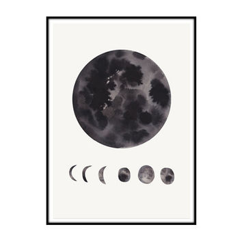 phases of the moon / limited edition print