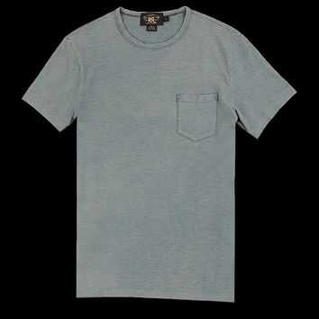 UNIONMADE - RRL - Crew Neck Pocket Tee Shirt in Washed Indigo