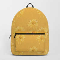 Yellow Orange Bows Backpack by deluxephotos