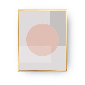Nordic Design, Circles Poster, Pink Gray Pastel Art, Pastel Decor, Geometric Shapes, Geometric Textures, Minimal Poster, Textured Wall Art
