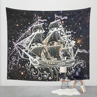 The Great Sky Ship II Wall Tapestry by Jenndalyn | Society6