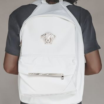 Medusa White & Gold Backpack