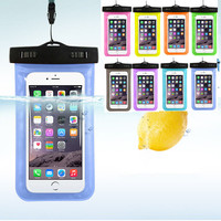 Hot sale Transparent  Waterproof Underwater Pouch Dry Bag Case Cover For iPhone Cell Phone Touchscreen  Mobile Phone