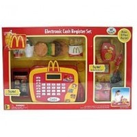 McDonald's Electronic Cash Register Set - Bonus 10 piece Drive-Thru Playset