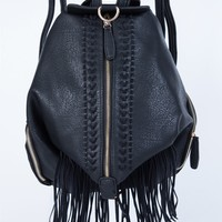 Stitched Fringe Backpack