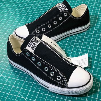 Converse All Star Slip ¢£ Ox Black Sneakers - Sale 3a9f6ccb6d