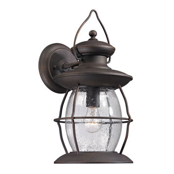 47042/1 Village Lantern 1 Light Outdoor Sconce In Weathered Charcoal - Free Shipping!