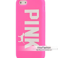 Victoria's Secret PINK Dog Rubber Back Case Cover For iPhone6 6S Plus 5 5S