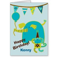 Personalized Circus Birthday Card