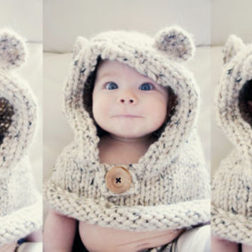 Teddy Bear Cowl, Choose your size