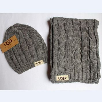 DCCKL72 x1love  Gucci Women Men Winter Knit Hat Cap Scarf Set Two-Piece