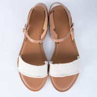 Frayed Canvas Sandals