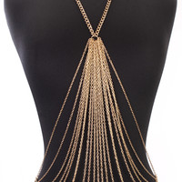 Gold High Polish O Ring Draped Body Chain