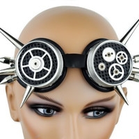 Silver Steampunk Goggles Cog Time Instrument Anime Mechanical Gear Glasses