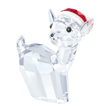 Swarovski Christmas Crystal Figurine DOE WITH SANTA'S HAT #5135853