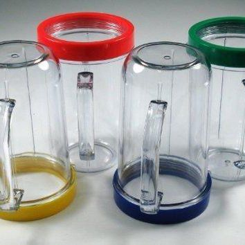 Party Cups Mugs Compatible with Original Magic Bullet Juicer (Set of 4)