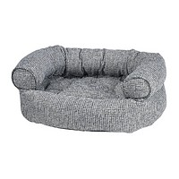 Chenille Double Donut Bolstered Dog Bed — Palazzo
