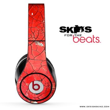 Cracked Red Surface Skin for the Beats by Dre