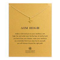 aim high crossing arrows necklace, gold dipped - Dogeared