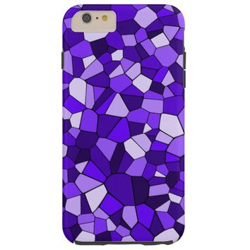 Monochrome Deep Violet Purple Mosaic Pattern Barely There iPhone 6 Plus Case