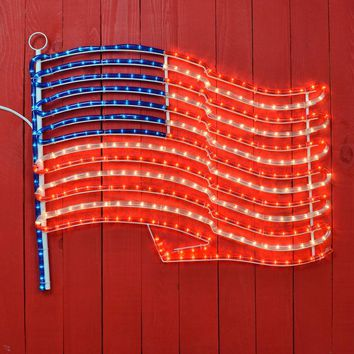 American Flag Rope Light Sign