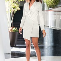 Off White (CDWH) Single Button Coat Dress