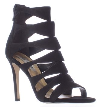 Steve Madden Swyndlee Multi Strap Dress Sandals, Black, 8 US