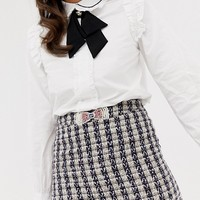 Sister Jane mini skirt with embellished bow in tweed co-ord at asos.com