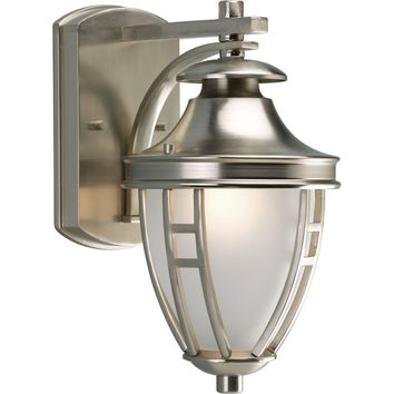 Progress Lighting Fairview Collection Brushed Nickel 1-light Wall Lantern-P5775-09 at The Home Depot