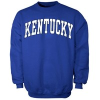 Kentucky Wildcats Bold Arch Crew Sweatshirt - Royal Blue