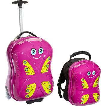 TrendyKid Bella Butterfly Upright Carry-On and Backpack - eBags.com