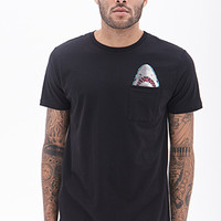 Shark Pocket Tee Black/White