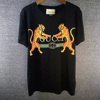 ''GUCCI''Hot letters print T-shirt top